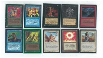 Magic the Gathering Beta Complete Common/Uncommon Set NEAR MINT/SLIGHT PLAY