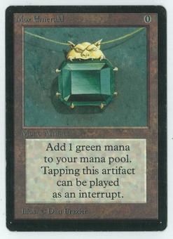 Magic the Gathering Beta Single Mox Emerald - SLIGHT/MODERATE PLAY (SP/MP)