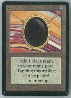 Magic the Gathering Beta Single Mox Jet - MODERATE PLAY - INKED EDGES