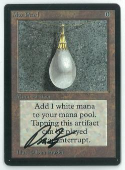 Magic the Gathering Beta Single Mox Pearl - NEAR MINT (NM) ARTIST SIGNED