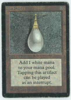 Magic the Gathering Beta Single Mox Pearl - MODERATE/HEAVY PLAY - (MP/HP)