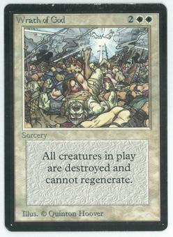 Magic the Gathering Beta Single Wrath of God - MODERATE PLAY (MP)