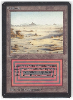 Magic the Gathering Beta Single Badlands - MODERATE PLAY (MP)