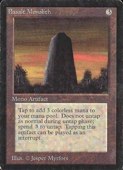 Magic the Gathering Beta Single Basalt Monolith - SLIGHT PLAY (SP)
