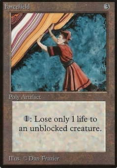 Magic the Gathering Beta Single Forcefield - MODERATE PLAY (MP)