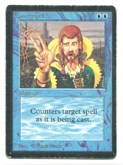 Magic the Gathering Beta Single Counterspell - HEAVY PLAY (HP)