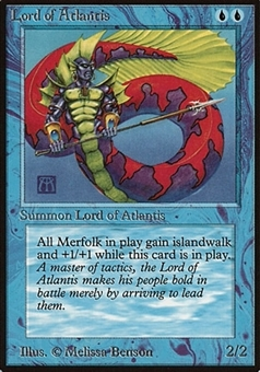 Magic the Gathering Beta Single Lord of Atlantis - MODERATE PLAY (MP)