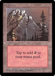 Magic the Gathering Beta Single Mountain (Ver 3) - NEAR MINT (NM)