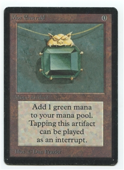 Magic the Gathering Beta Single Mox Emerald - MODERATE PLAY (MP)
