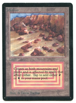 Magic the Gathering Beta Single Plateau - SLIGHT / MODERATE PLAY (SP/MP)