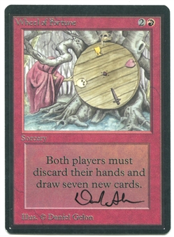 Magic the Gathering Beta Single Wheel of Fortune ARSTIST SIGNED - NEAR MINT (NM)