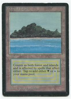 Magic the Gathering Beta Single Tropical Island - MODERATE PLAY (MP)