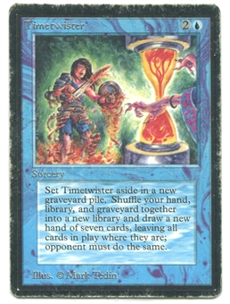 Magic the Gathering Beta Single Timetwister - HEAVY PLAY (HP)