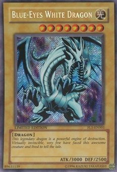 Yu-Gi-Oh Promo Single Blue-Eyes White Dragon Secret Rare (FL1-EN001)