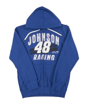 Jimmie Johnson #48 G-III Racing Royal Blue Full Zip Fleece Hoodie (Adult Large)