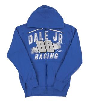 Dale Earnhardt Jr. #88 G-III Racing Royal Blue Full Zip Fleece Hoodie (Adult Large)