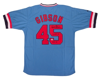 Bob Gibson Autographed St. Louis Cardinals Throwback Jersey (Fanatics)