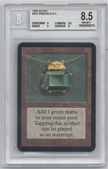 Magic the Gathering Alpha Single Mox Emerald BGS 8.5 NM-MT+ (9,8.5,9,8)