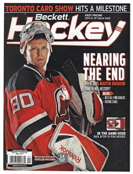 2014 Beckett Hockey Monthly Price Guide (#260 April) (Broduer)