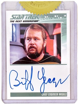 2011 The Complete Star Trek The Next Generation Autographs #4 Biff Yeager