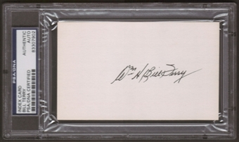 "William ""Bill"" Terry Autograph (Index Card) PSA/DNA Certified *7902"