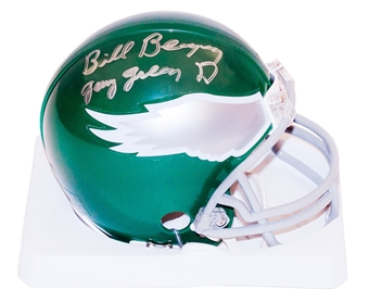 Bill Bergey Autographed Philadelphia Eagles Mini Helmet w/ Gang Green D (Leaf)