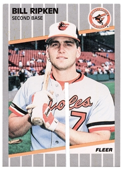 "1989 Fleer #616 Bill Ripken ""F**K FACE""  Factory Destroyed Famous Error Card!"