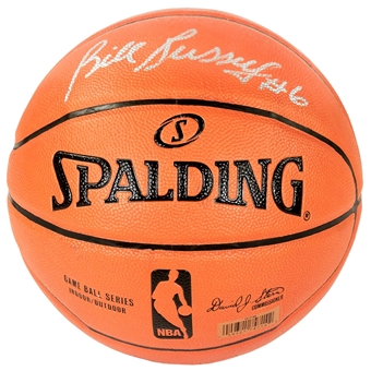 Bill Russell Autographed Official Spalding Basketball (PSA)