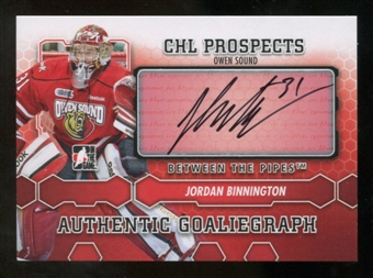 2012/13 In the Game Between The Pipes Autographs #AJBI Jordan Binnington Autograph