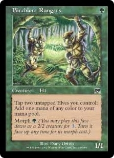 Magic the Gathering Onslaught Single Birchlore Rangers Foil
