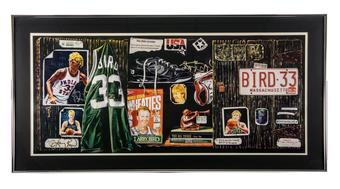 Larry Bird Autographed Allen Hackney 1994 Limited Edition Framed Farewell Lithograph #93/300