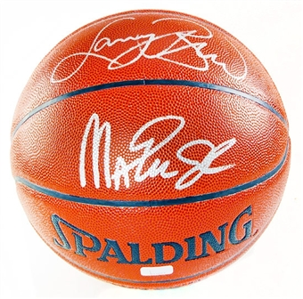 Magic Johnson - Larry Bird Dual Autographed Spalding Zi/O Basketball