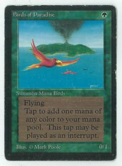 Magic the Gathering Beta Single Birds of Paradise - MODERATE PLAY (MP)