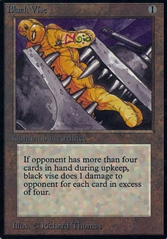 Magic the Gathering Alpha Single Black Vise - MODERATE PLAY (MP)