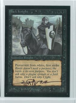 Magic the Gathering Beta Artist Proof Black Knight - SIGNED BY JEFF A. MENGES