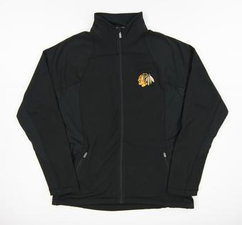 Chicago Blackhawks Level Wear Lunar Black Performance Track Jacket