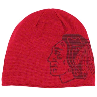 Chicago Blackhawks Reebok Game Day Reversible Knit Hat (One Size Fits All)