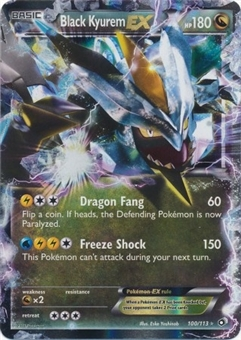 Pokemon Legendary Treasures Single Black Kyurem EX 100/113 - SLIGHT PLAY (SP)