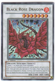 Yu-Gi-Oh Crossroads of Chaos 1st Edition Single Black Rose Dragon Ultra Rare