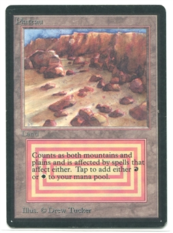 Magic the Gathering Beta Single Plateau - SLIGHT PLAY (SP)