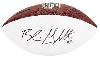 Blaine Gabbert Autographed San Francisco 49ers Wilson Football (Press Pass)