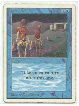 Magic the Gathering Unlimited Single Time Walk - MODERATE PLAY (MP)