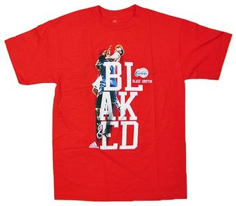 Blake Griffin Los Angeles Clippers Red Adidas Blaked T-Shirt (Size Large)