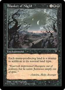 Magic the Gathering Visions Single Blanket of Night - NEAR MINT (NM)