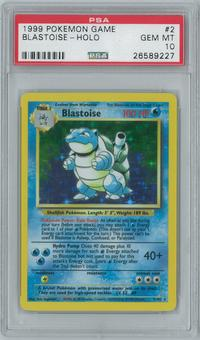 Pokemon Base Set Unlimited Blastoise 2/102 Holo Rare PSA 10 GEM MINT
