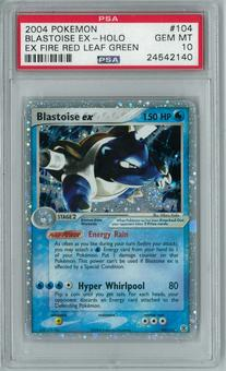 Pokemon EX Fire Red Leaf Green Blastoise EX 104/112 Holo Rare PSA 10