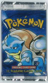 Pokemon Base Set 1 FIRST EDITION Booster Pack - Blastoise Art - UNSEARCHED