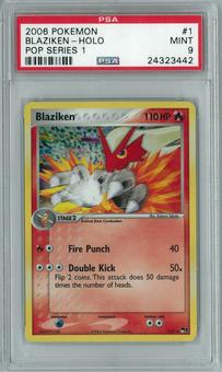 Pokemon POP Series 1 Blaziken 1/17 Holo Rare PSA 9