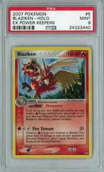 Pokemon EX Power Keepers Blaziken 5/108 Holo Rare PSA 9
