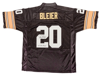 Rocky Bleier Autographed Pittsburgh Steelers Football Jersey (JSA)